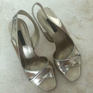 ❤️Louis Vuitton vintage shoes S-37 gold silver🎁